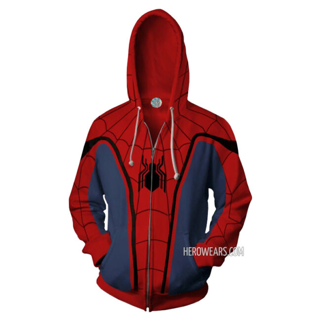 Spider Man Homecoming Zipper Hoodie