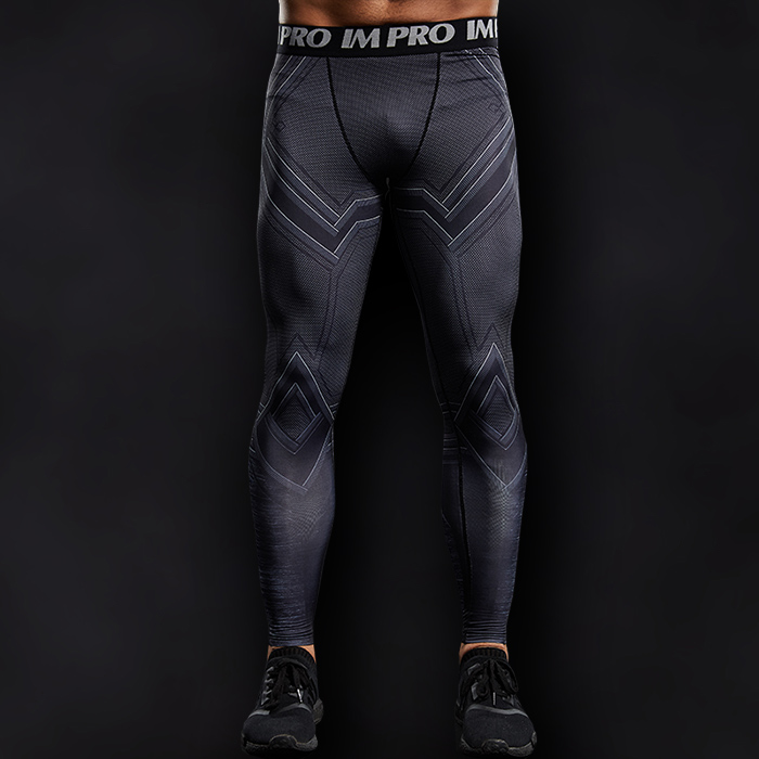 Black Panther Superhero Compression Leggings