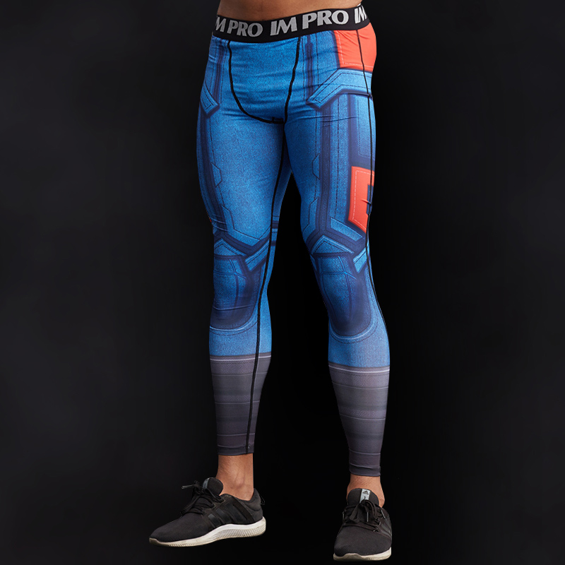 Captain America Superhero Compression Leggings