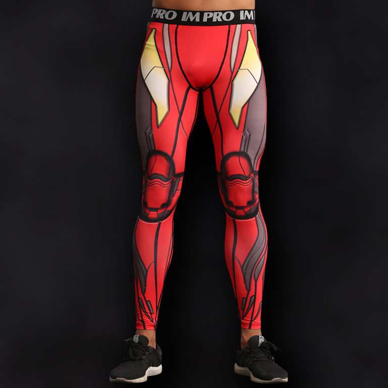 Iron Man Superhero Compression Leggings