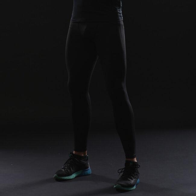Plain Black Compression Leggings