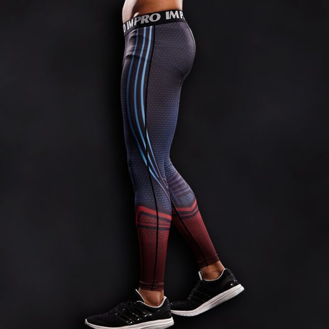 Man Of Steel Superhero Compression Leggings