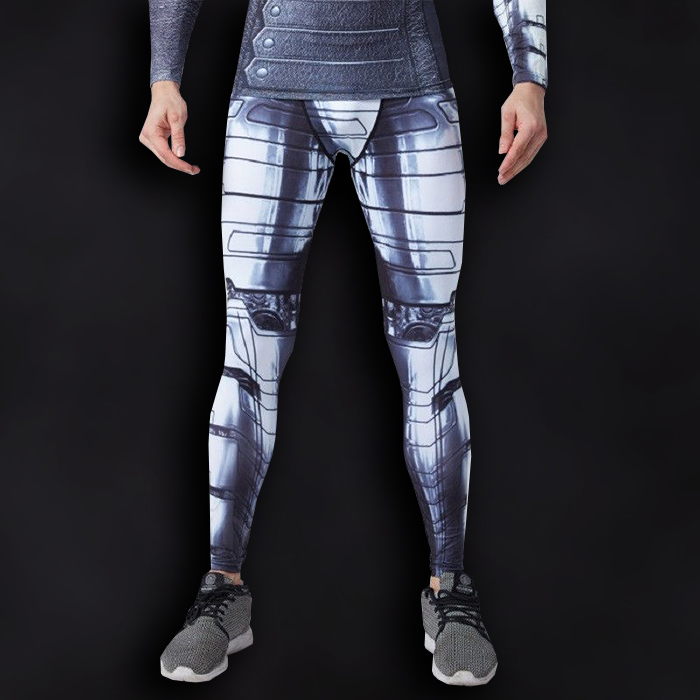 Winter Soldier Superhero Compression Leggings