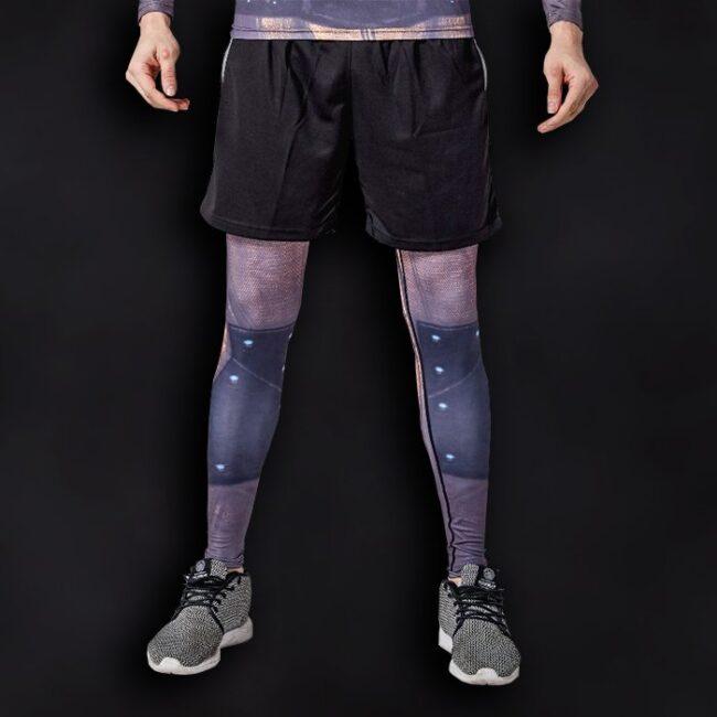 Reverse Flash Superhero Compression Leggings