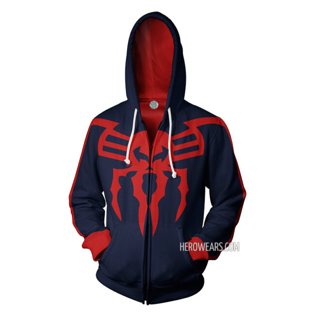 Spider Man 2099 Zip Up Hoodie