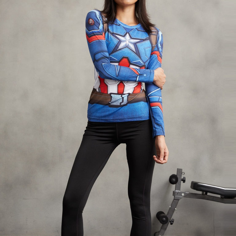 Captain America Superhero Compression T-Shirt