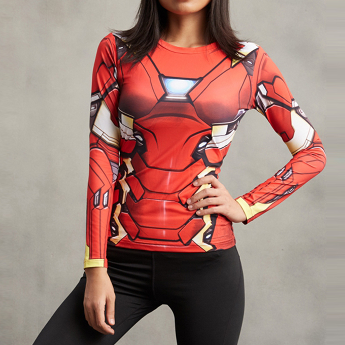 Iron Man Superhero Compression T-Shirt