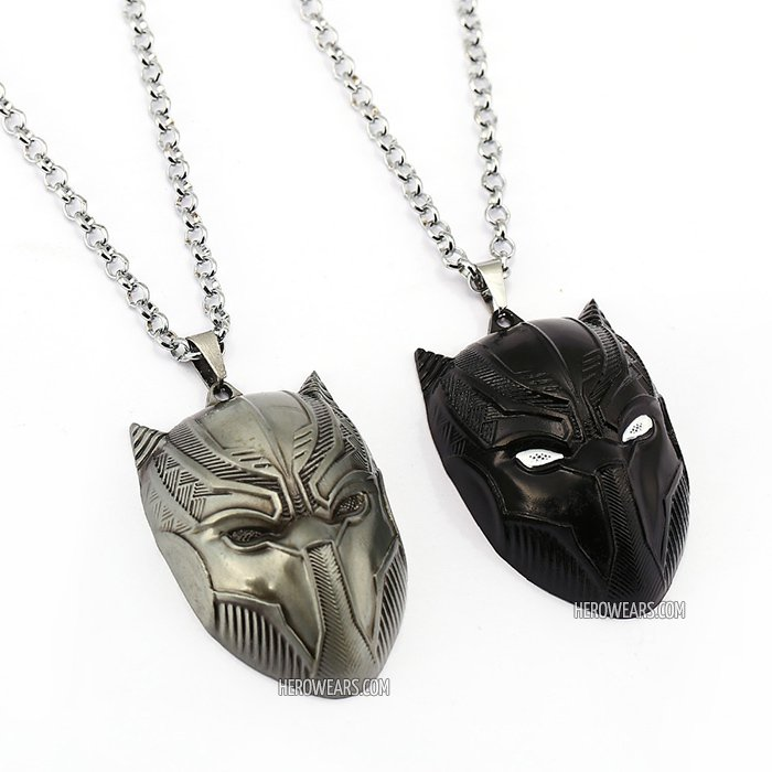 Black Panther Superhero Pendant Necklace