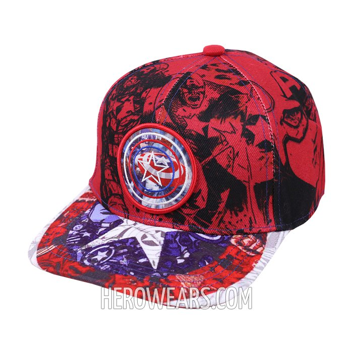 Captain America Superhero Snapback Hat