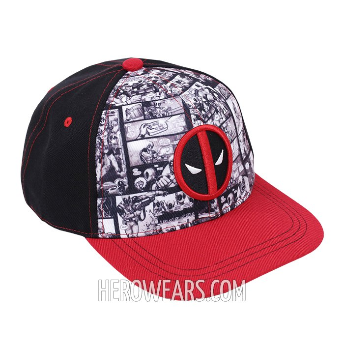 Deadpool Comic Snapback - Superhero Hats - HeroWears.com 5cefb61db1f3