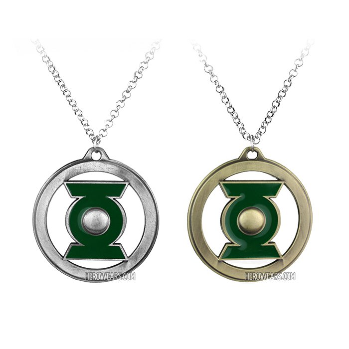 Green Lantern Superhero Pendant Necklace