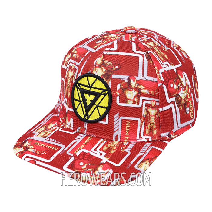 Iron Man Superhero Snapback Hat