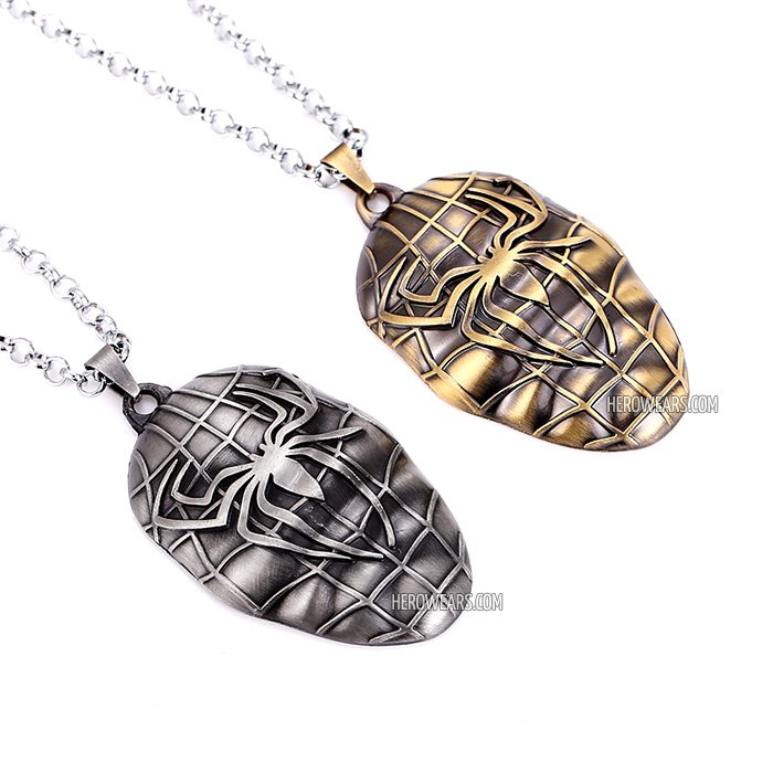Spider man grenade necklace superhero pendant necklaces spider man superhero pendant necklace aloadofball Images