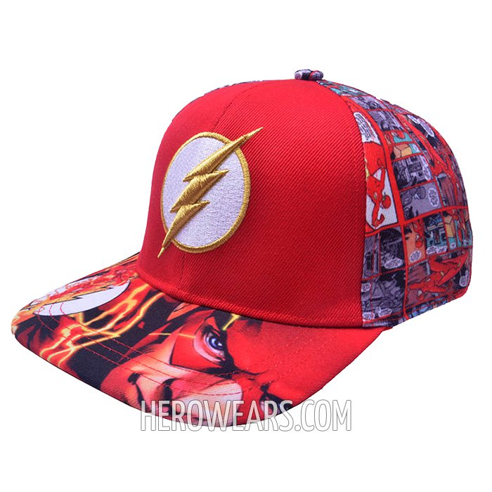 The Flash Superhero Snapback Hat