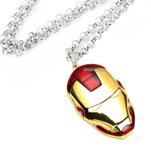 Iron man helmet necklace superhero pendant necklaces herowears iron man superhero pendant necklace aloadofball Images