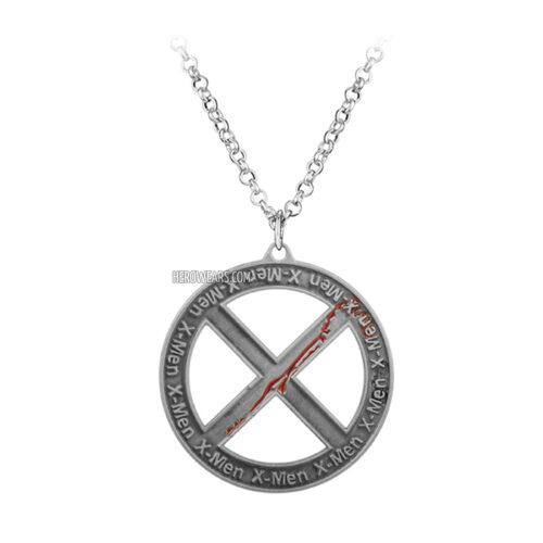 X men necklace superhero pendant necklace herowears x men superhero pendant necklace aloadofball Gallery
