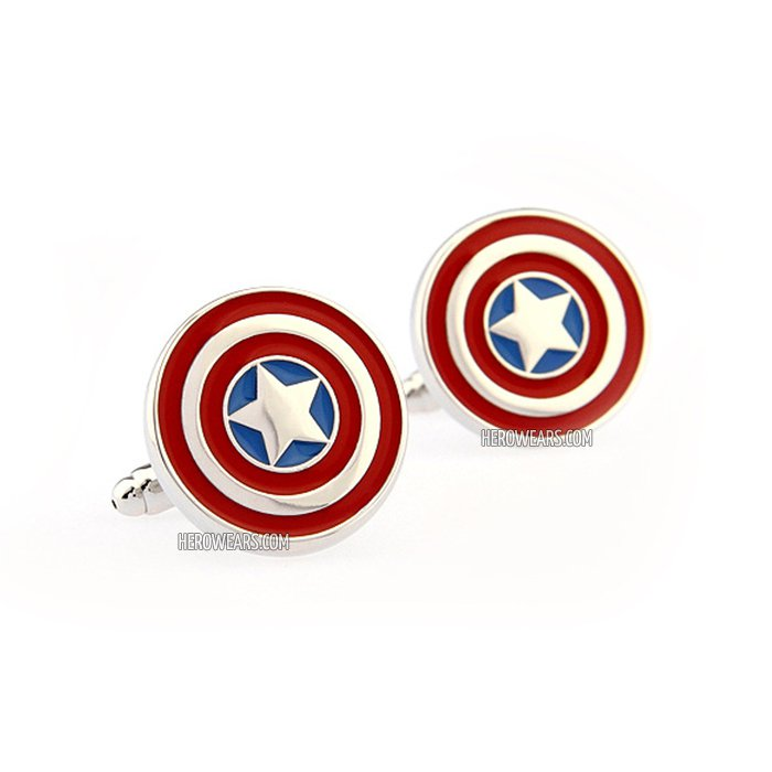 Captain America Superhero Cufflinks
