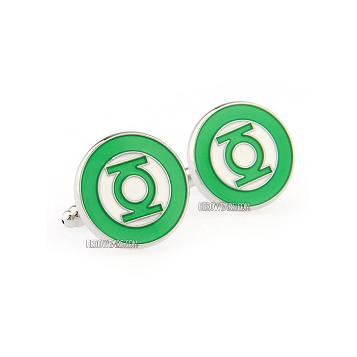 Green Lantern Superhero Cufflinks