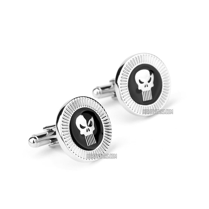 Punisher Superhero Cufflinks