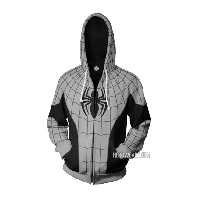 Armored Spider Man Zip Up Hoodie