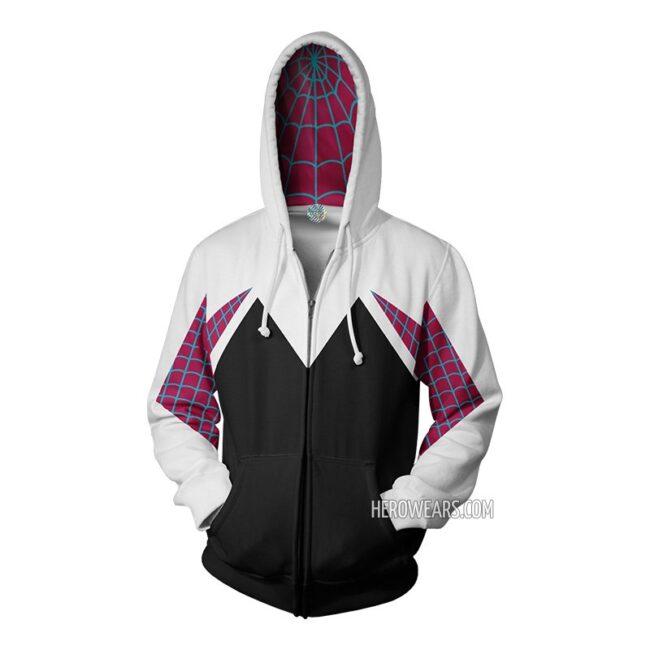 Gwen Stacy Spider Man Zip Up Hoodie