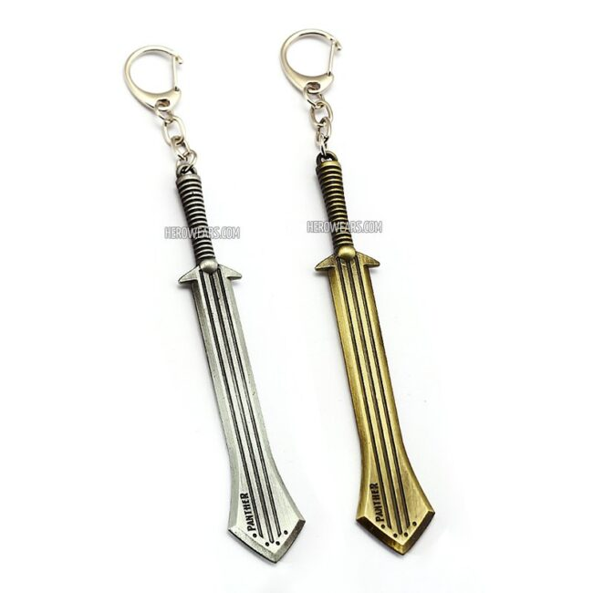 Black Panther Sword Keychain