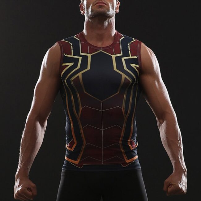 36babf1a Iron Spider Tank Top - HeroWears.com - Premium Superhero Compression T- Shirts
