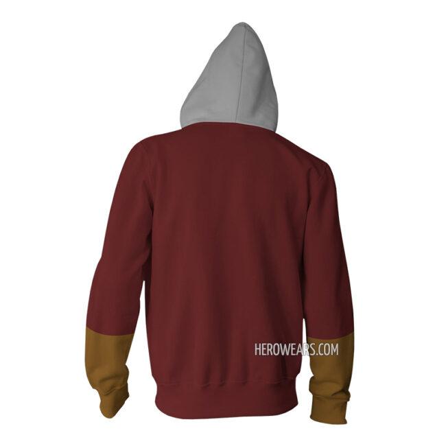 Shazam Zip Up Hoodie