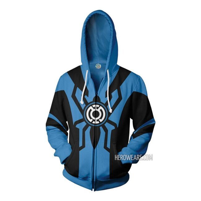 Spider Man Blue Lantern Zip Up Hoodie