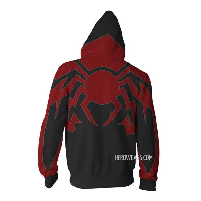 Spider Man Miles Morales Redesign Zip Up Hoodie