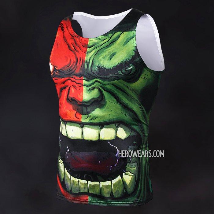 e9a83a91853e98 Hulk Face Tank Top - HeroWears.com - Premium Superhero Compression T-Shirts