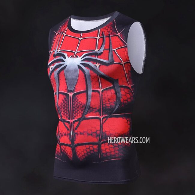 b180e061d2c55 Spider Man Tank Top - HeroWears.com - Premium Superhero Compression ...
