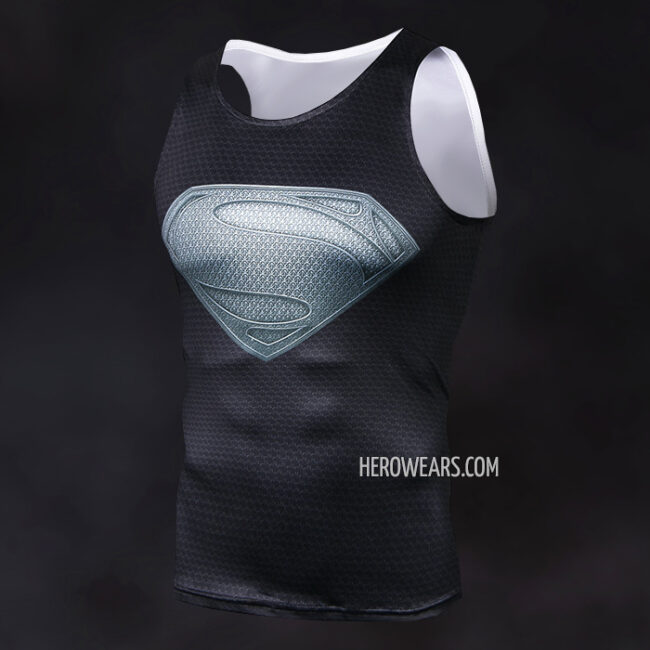 9ac7e7330d65c Superman Black Tank Top - HeroWears.com - Premium Superhero ...