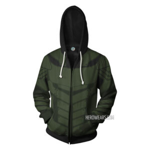 Green Arrow Zip Up Hoodie