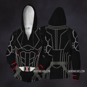 Black Widow Zip Up Hoodie