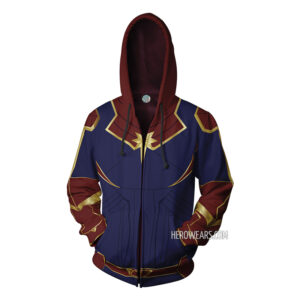 Captain Marvel Zip Up Hoodie