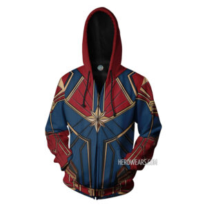 Captain Marvel Zipper Hoodie