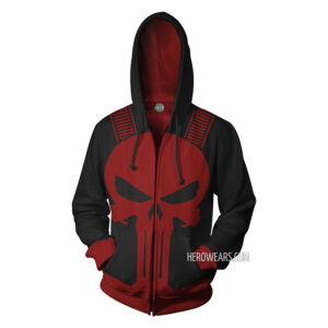Punisher Thunderbolts Zip Up Hoodie
