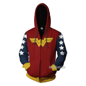 Wonder Woman Zip Up Hoodie