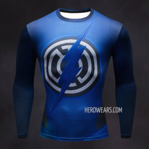 Blue Lantern Flash Compression Shirt Rash Guard
