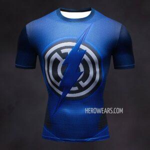 Blue Lantern Flash Compression Shirt Rashguard