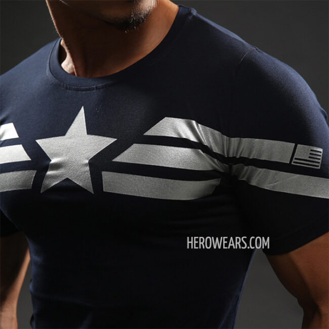 Captain America Stealth Compression Shirt Rashguard