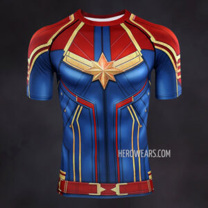 Captain Marvel Compression Shirt Rashguard