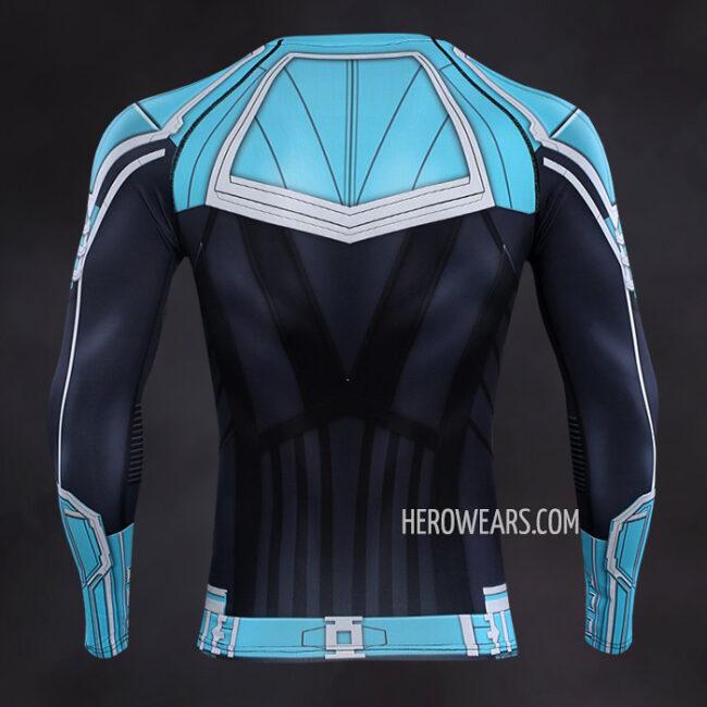 Captain Marvel Compression Shirt Rashguard