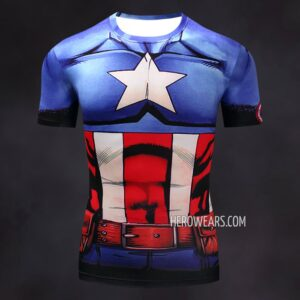 Captain America Comic Compression Shirt Rashguard