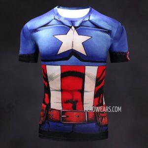 Captain America Comic Compression Shirt Rashguard