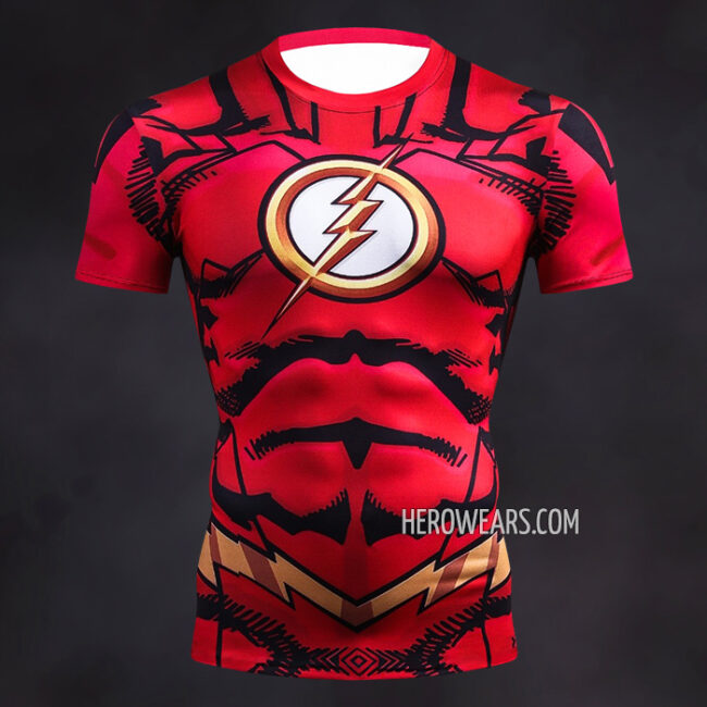 The Flash Comic Compression Shirt Rashguard