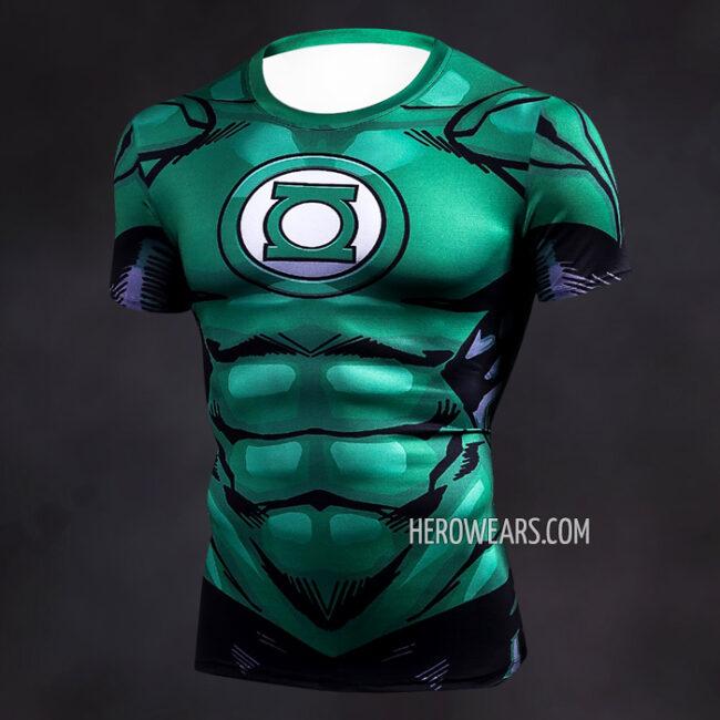 Green Lantern Comic Compression Shirt Rashguard