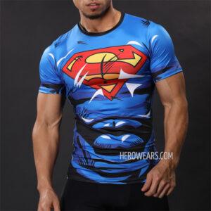 Superman Comic Compression Shirt Rashguard