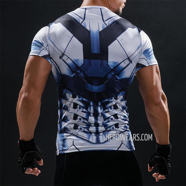 Iron Man White Compression Shirt Rashguard